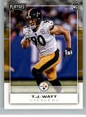 2017 Panini Playoff #284 T.J. Watt Pittsburgh Steelers Rookie