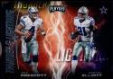 2017 Playoff Football Thunder and Lightning #1 Dak Prescott/Ezekiel Elliott Dallas Cowboys  Official Panini NFL Trading Card