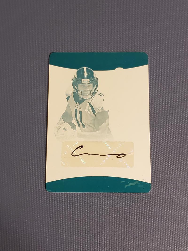 2017 Panini Preferred Great X-Pectations Cyan Printing Plate