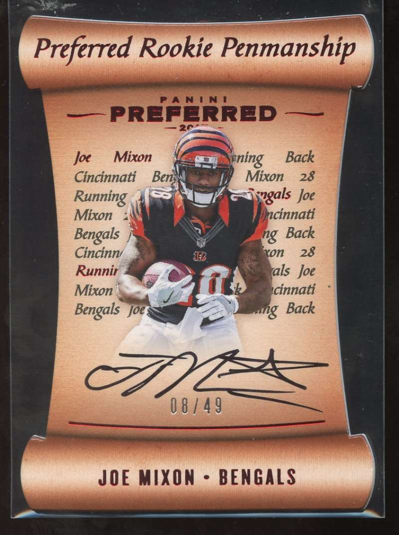 2017 Panini Preferred Rookie Penmanship Red