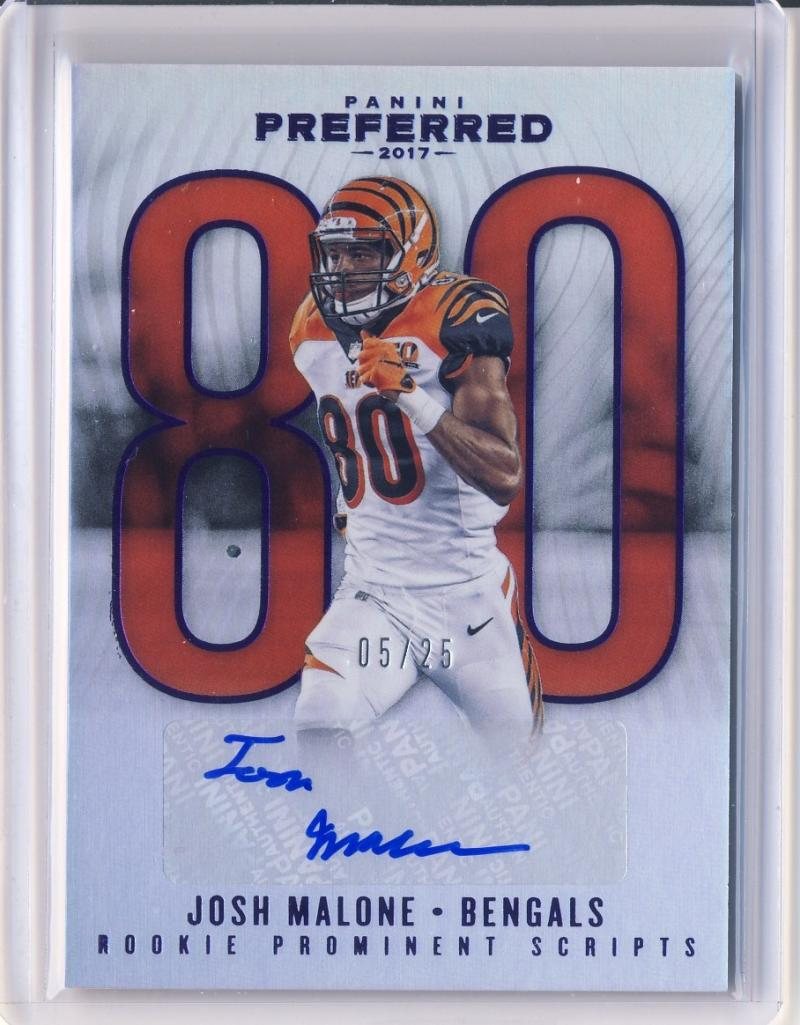 2017 Panini Preferred Rookie Prominent Scripts Purple