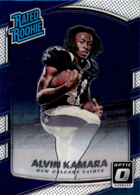 2017 Donruss Optic #199 Alvin Kamara New Orleans Saints Rated Rookie