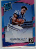 2017 Donruss Optic Pink #152 Marlon Mack Indianapolis Colts Rated Rookie