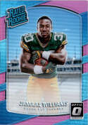 2017 Donruss Optic Pink #167 Jamaal Williams Green Bay Packers Rated Rookie