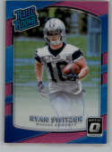 2017 Donruss Optic Pink #189 Ryan Switzer Dallas Cowboys Rated Rookie