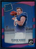 2017 Donruss Optic Pink #198 Davis Webb New York Giants Rated Rookie
