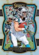 2017 Panini Select Silver Prizm #155 Christian McCaffrey Carolina Panthers Premier Level
