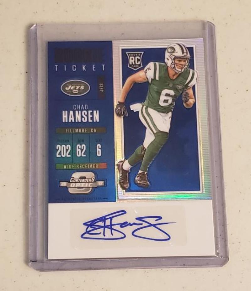 2017 Panini Contenders Optics Rookie Ticket Autograph Blue