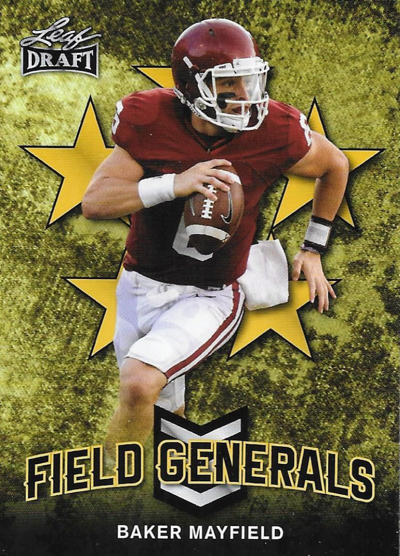 2018 Leaf Draft Field Generals Gold
