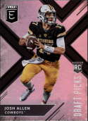 2018 Panini Elite Draft Picks  #103 Josh Allen (Dark Jersey) Wyoming Cowboys Football Card