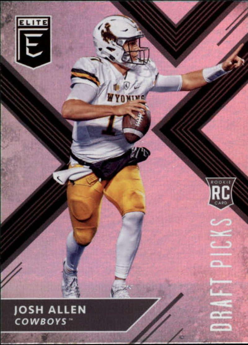 2018 Panini Elite Draft Picks  #103 Josh Allen (White Jersey) Wyoming Cowboys Football Card