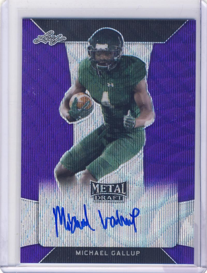 2018 Leaf Metal Draft Wave Purple
