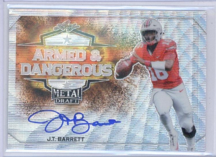 2018 Leaf Metal Draft Armed and Dangerous Wave Autographs Silver