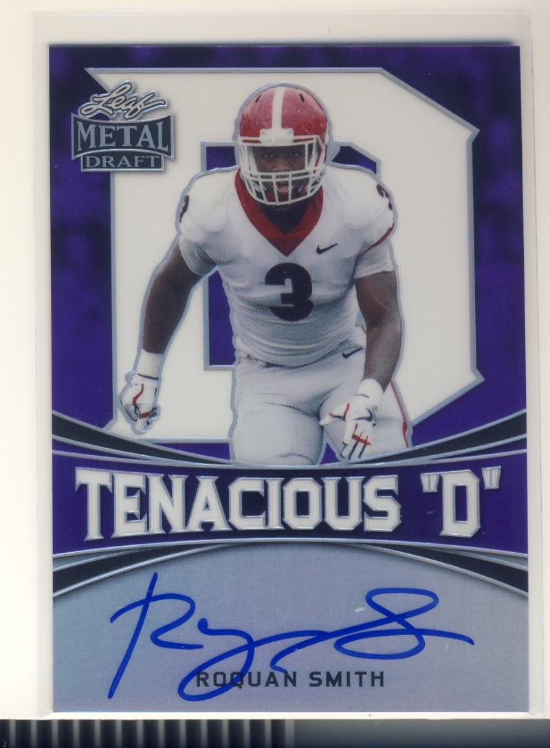 2018 Leaf Metal Draft Tenacious D Prismatic Autographs Purple