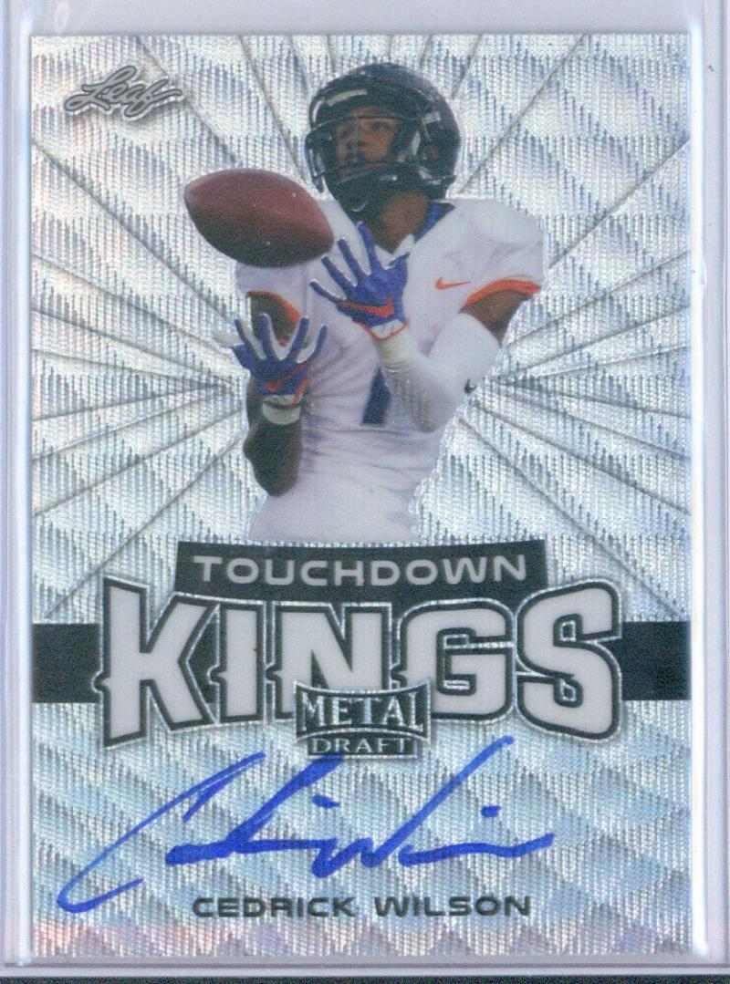 2018 Leaf Metal Draft Touchdown Kings Wave Autographs Silver
