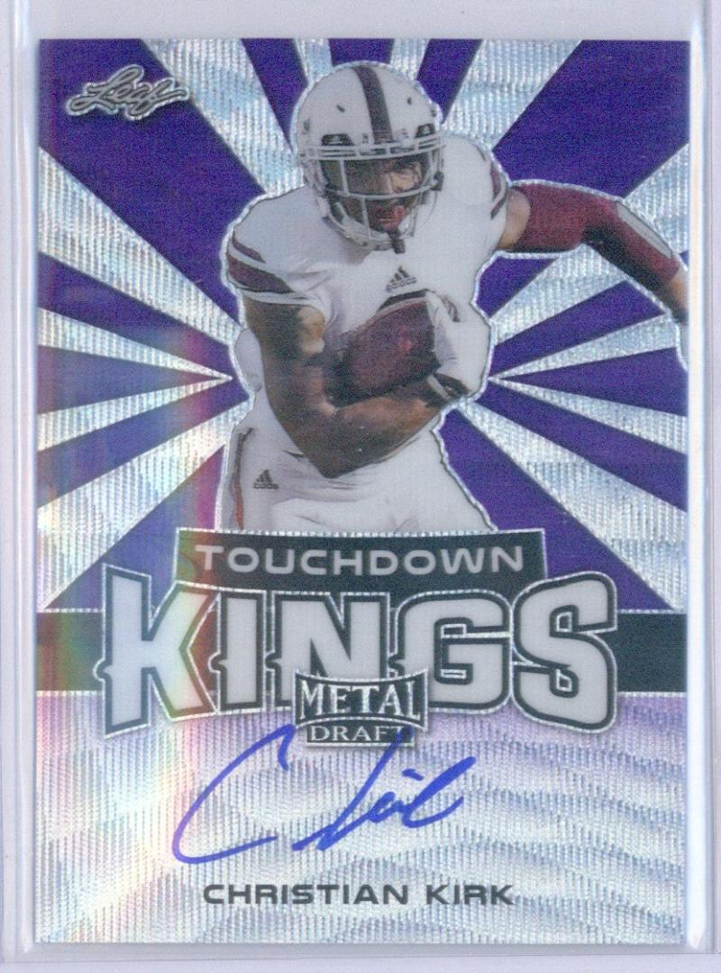 2018 Leaf Metal Draft Touchdown Kings Wave Autographs Purple