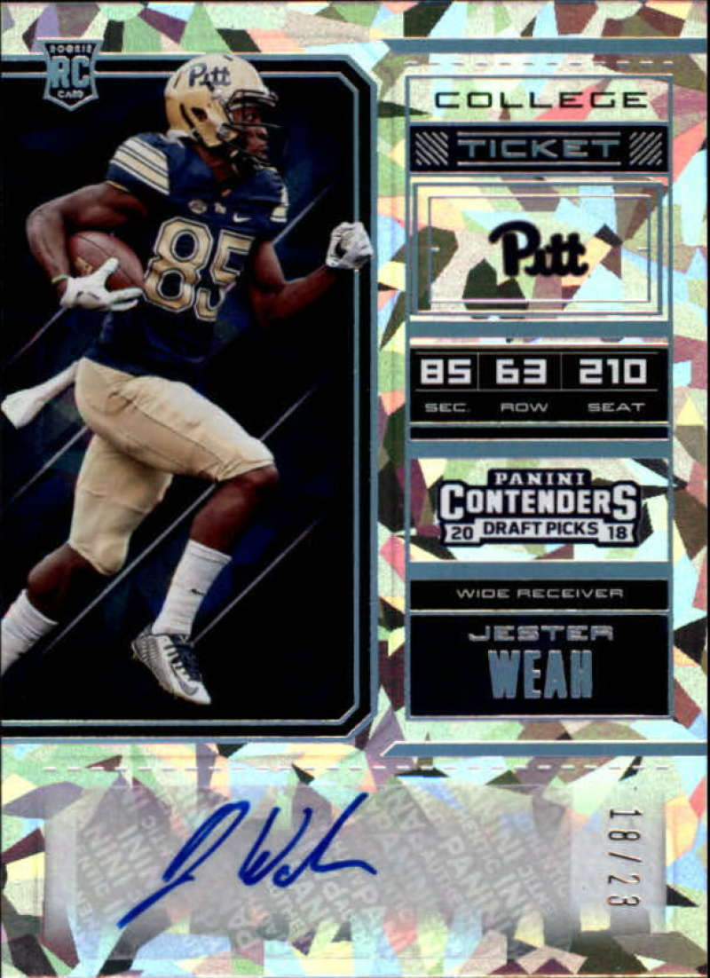 2018 Panini Contenders Draft Picks College Cracked Ice Ticket