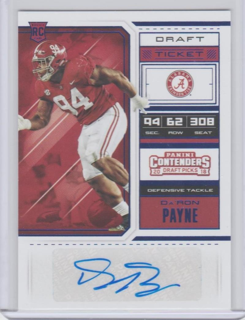 2018 Panini Contenders Draft Picks College Draft Ticket Blue Foil