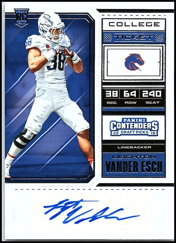 2018 Panini Contenders Draft Picks College Ticket