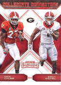 2018 Panini Contenders Draft Picks Collegiate Connections #6 Nick Chubb/Sony Michel NM+