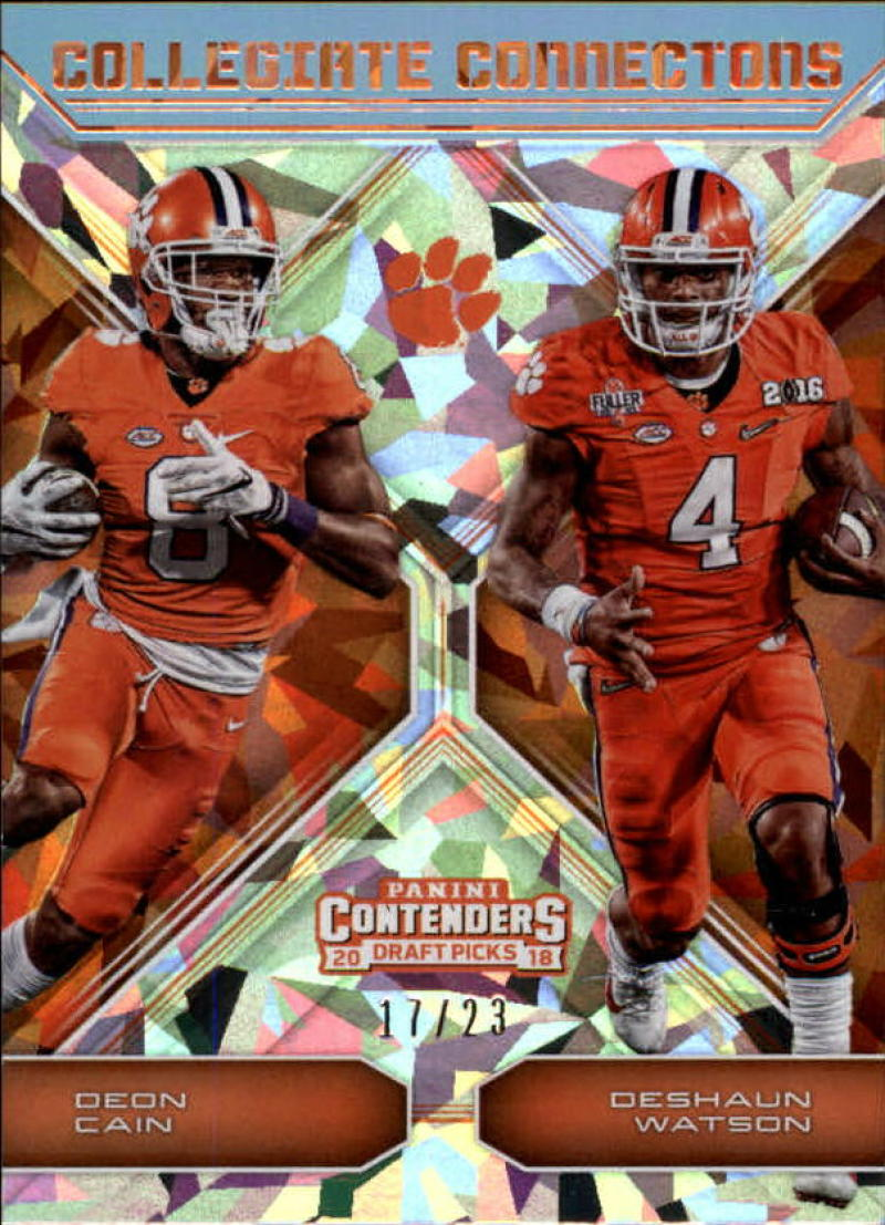 2018 Panini Contenders Draft Picks Collegiate Connections Cracked Ice