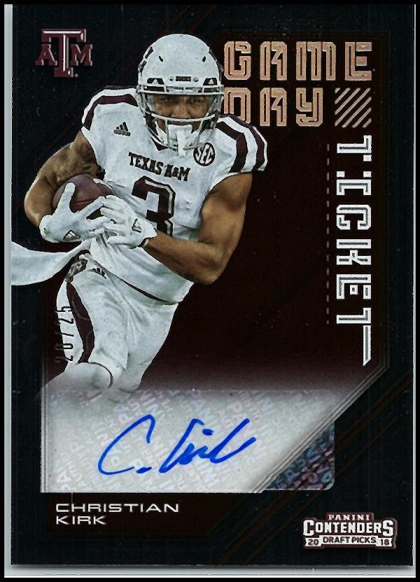 2018 Panini Contenders Draft Picks Game Day Ticket Signatures
