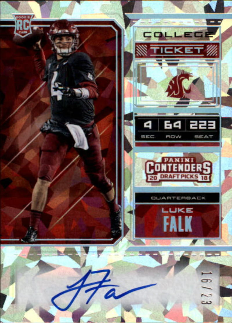 2018 Panini Contenders Draft Picks RPS College Cracked Ice Ticket