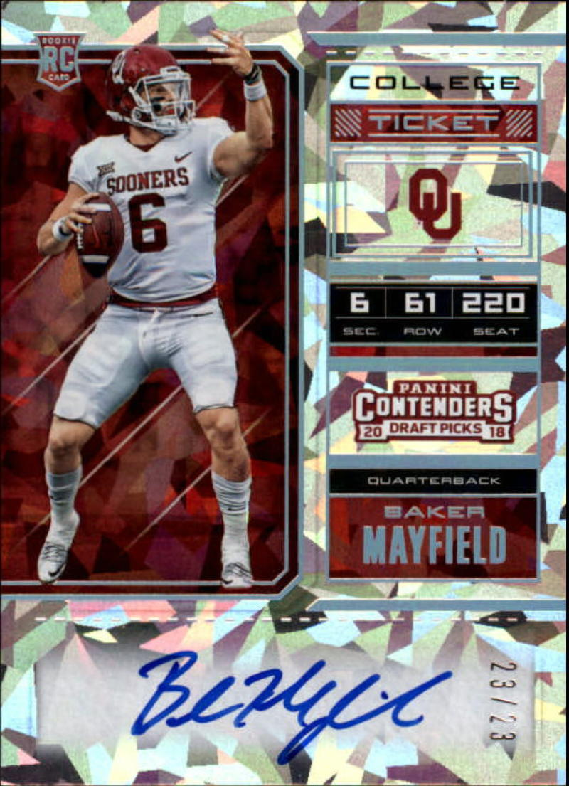 2018 Panini Contenders Draft Picks RPS College Cracked Ice Ticket Variation A