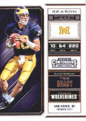 2018 Panini Contenders Draft Picks Season Ticket #94 Tom Brady Michigan Wolverines NCAA Collegiate Football Card