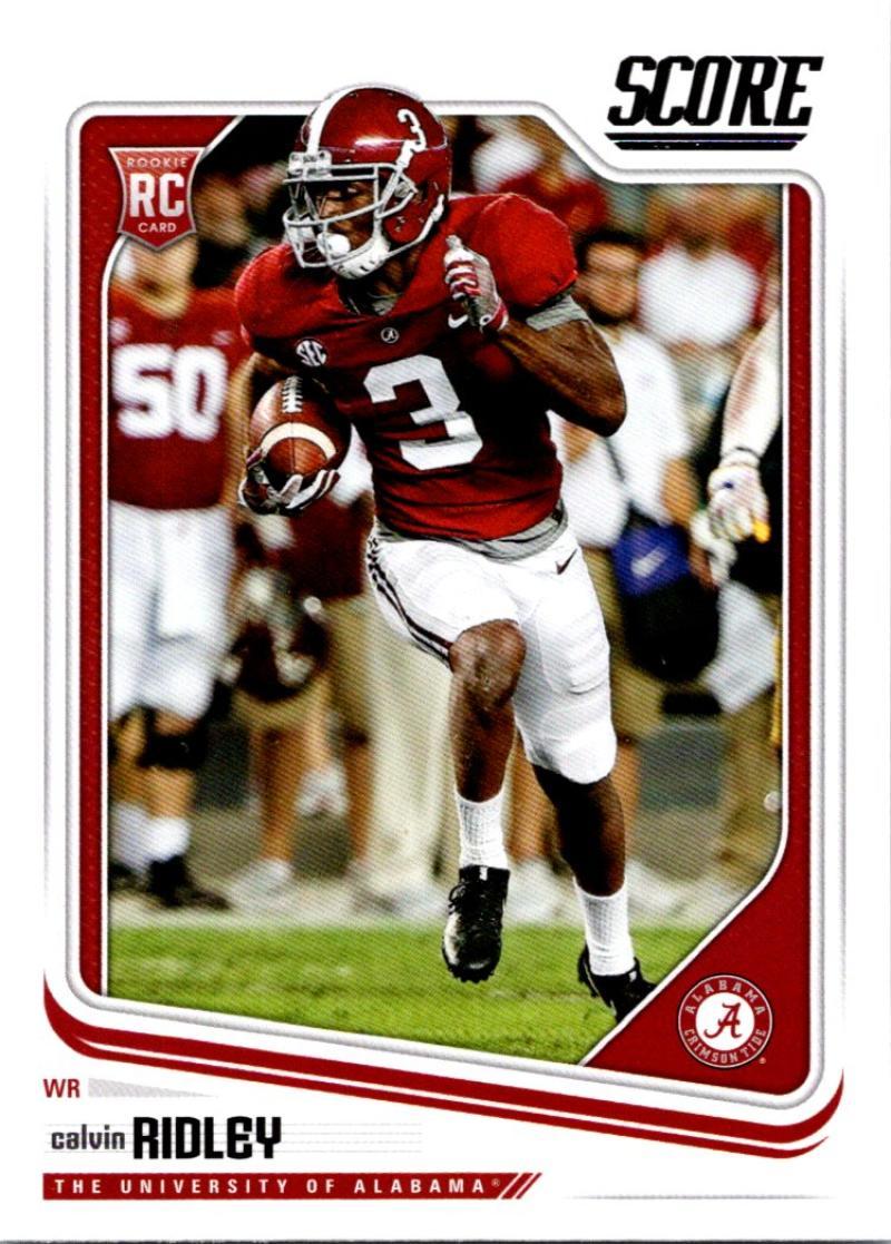 2018 Score #380 Calvin Ridley Alabama Crimson Tide Rookie RC Football Card