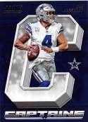 2018 Score Captains #5 Dak Prescott Dallas Cowboys Football Card