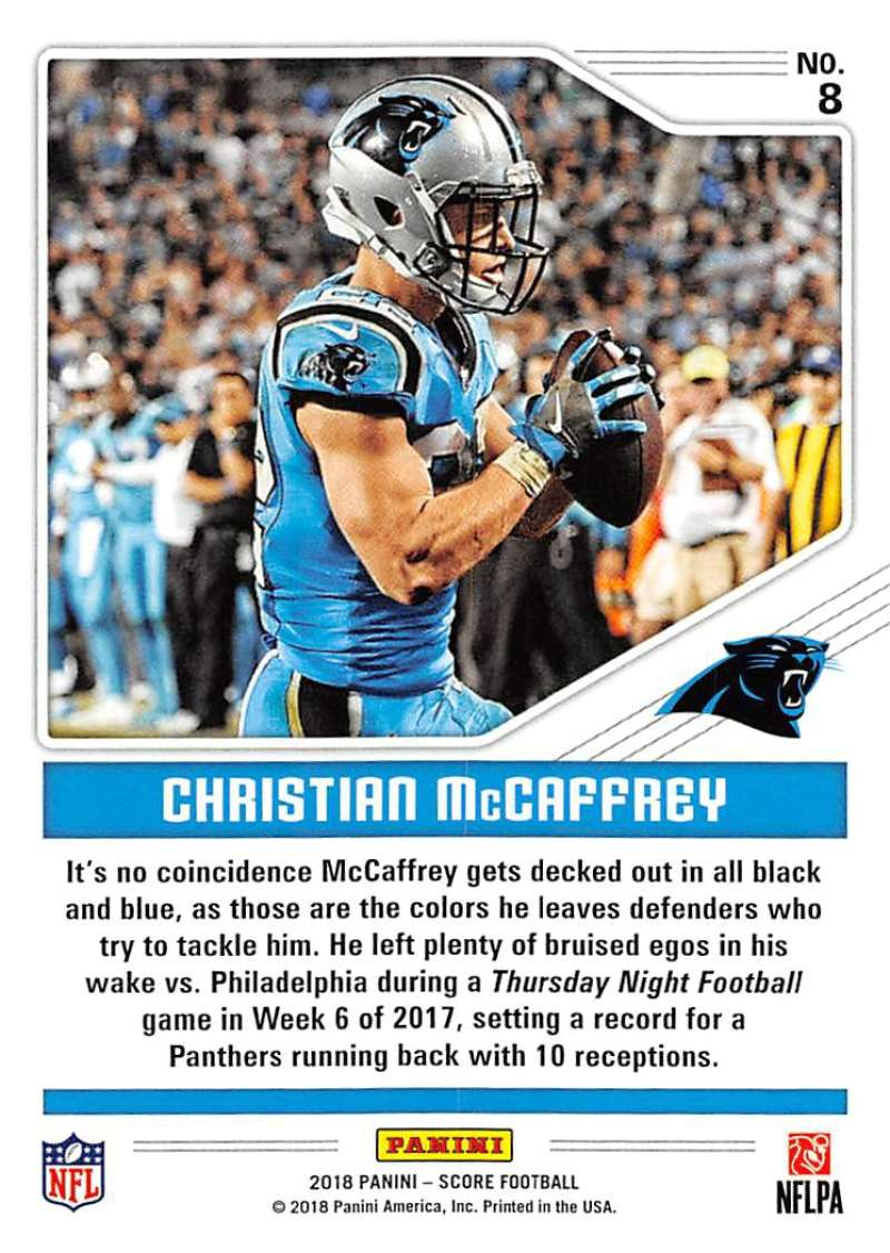 f71931d53 2018 Score Color Rush  8 Christian McCaffrey. Carolina Panthers. Front  image Front image