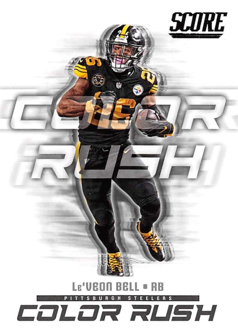2018 Score Color Rush #7 Cam Newton Carolina Panthers Football Card