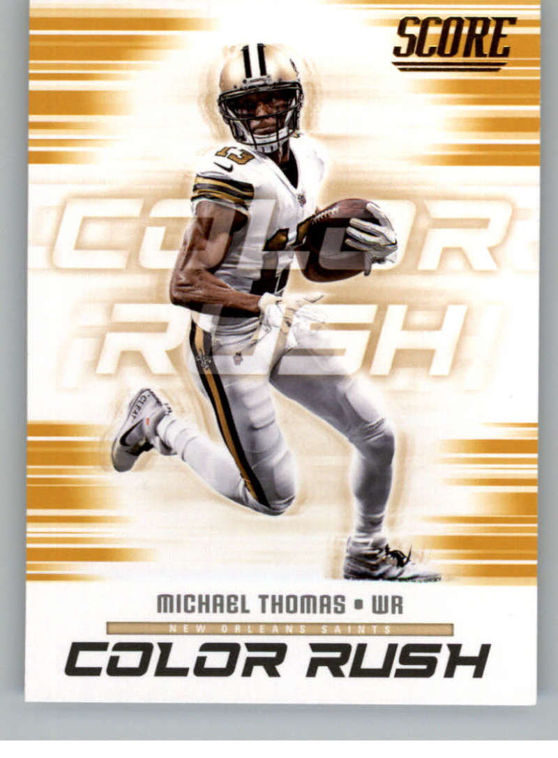 2ae67fcd7 2018 Score Color Rush Gold  14 Michael Thomas. New Orleans Saints. Front  image Front image