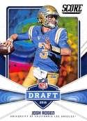 2018 Score NFL Draft #2 Josh Rosen UCLA Bruins Rookie RC Football Card