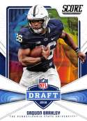 2018 Score NFL Draft #6 Saquon Barkley Penn State Nittany Lions Rookie RC Football Card