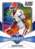 2018 Score NFL Draft #13 Roquan Smith Georgia Bulldogs Rookie RC Football Card