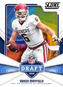 2018 Score NFL Draft #17 Baker Mayfield Oklahoma Sooners Rookie RC Football Card