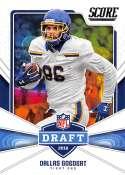 2018 Score NFL Draft #23 Dallas Goedert South Dakota State Jackrabbits Rookie RC Football Card