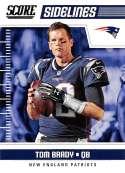 2018 Score Sidelines #12 Tom Brady New England Patriots Football Card