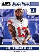 2018 Score Sidelines #13 Odell Beckham Jr. New York Giants Football Card