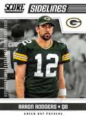 2018 Score Sidelines #14 Aaron Rodgers Green Bay Packers Football Card