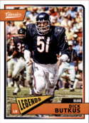 2018 Classics Football #109 Dick Butkus Chicago Bears Legend Panini NFL Card