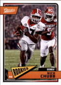 2018 Classics Football #216 Nick Chubb Georgia Bulldogs RC Rookie Panini NFL Card