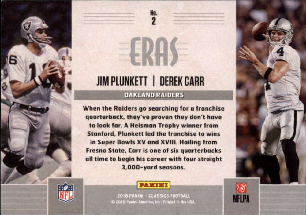 2018-Panini-CLASSICS-Football-Inserts-and-Parallels-Pick-Your-Cards-Make-Own-Lot thumbnail 76