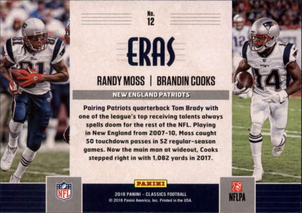 2018-Panini-CLASSICS-Football-Inserts-and-Parallels-Pick-Your-Cards-Make-Own-Lot thumbnail 89