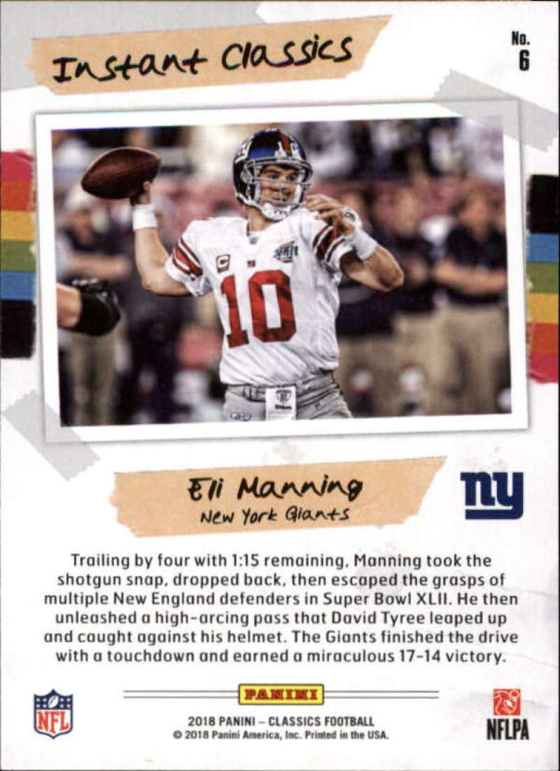 2018-Panini-CLASSICS-Football-Inserts-and-Parallels-Pick-Your-Cards-Make-Own-Lot thumbnail 151