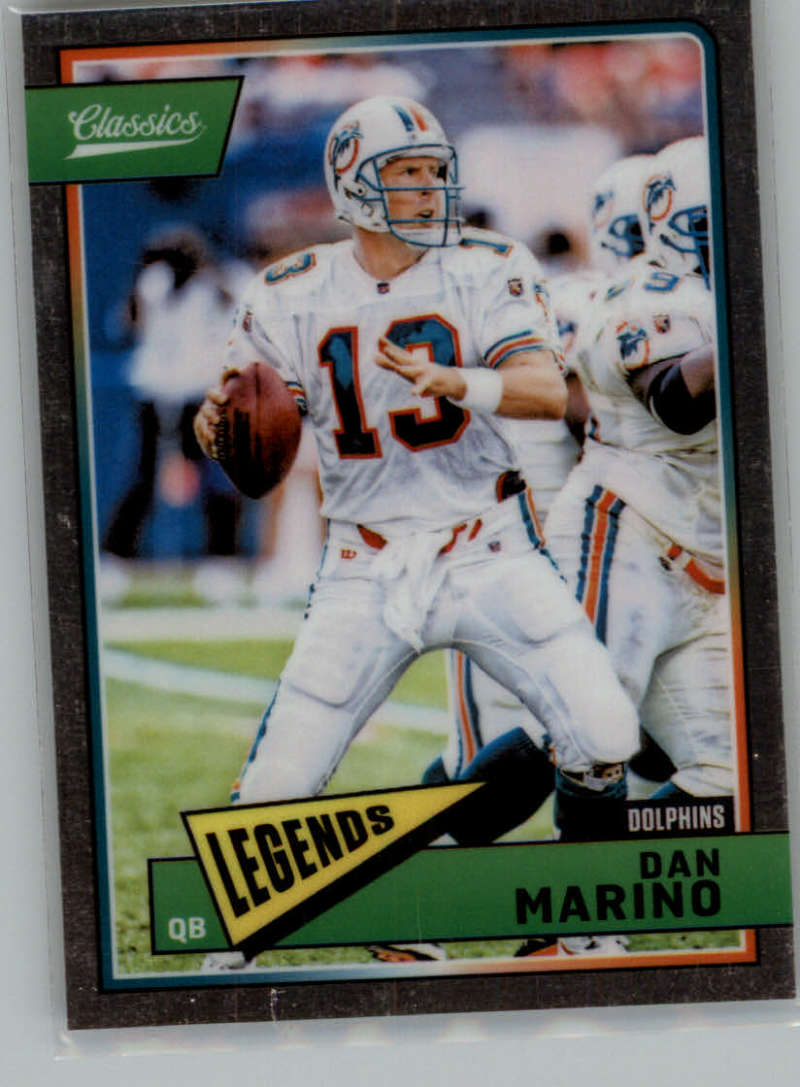 2018 Classics Football Premium Edition #165 Dan Marino Miami Dolphins  Official NFL Trading Card made by Panini