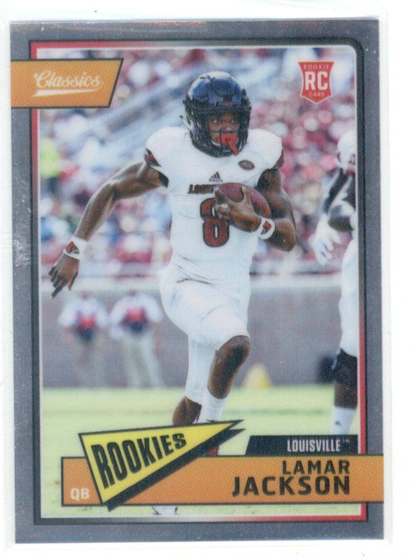 2018 Classics Football Premium Edition #209 Lamar Jackson Louisville Cardinals  Official NFL Trading Card made by Panini