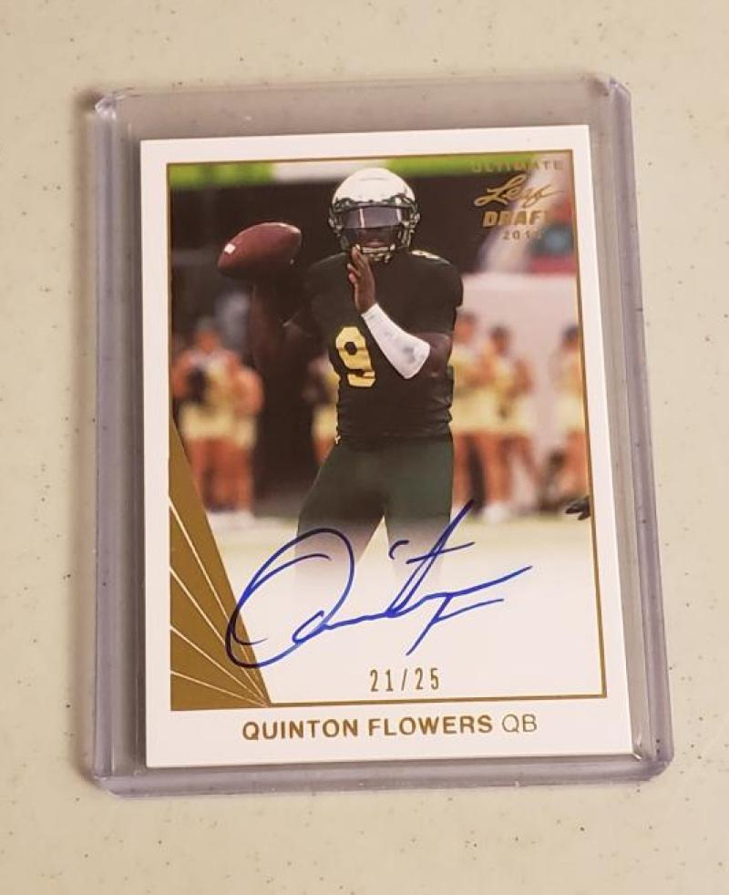 2018 Leaf Ultimate Draft 1990 Leaf Autographs Gold